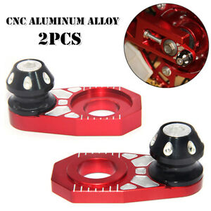 2PCS Motorcycle CNC Adjuster Chain Regulator Rear Hub Wheel Antiskid Automatic