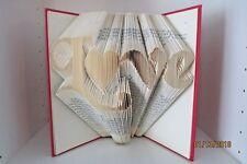 Custom hand folded recycled book Gift LOVE