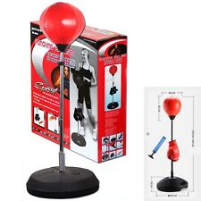 Gloves Pump Set Speedball Speed Ball Stand Punching Boxing Bag Kit With GLOVES