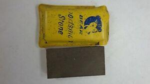 "Vintage Norton Bear Brand Sportsman Sharpening Stone Pouch  3"" x 1 1/2"""