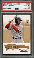 2014 panini classics #169 MOOKIE BETTS boston red sox rookie card PSA 10