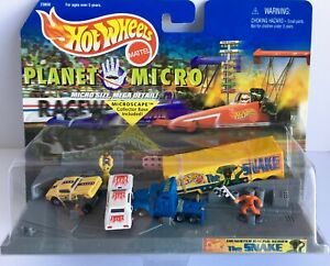 HOT WHEELS PLANET MICRO MACHINES Dragster Racing Series THE SNAKE Mattel 1999
