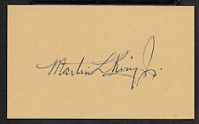 Martin Luther King Jr Autograph Reprint On Original Period 1960s 3x5 Card