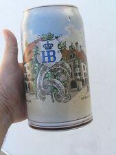 Vintage HB Hofbräuhaus Germany Stoneware Salt Glaze Beer Stein Mug Tankard 1L