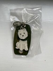 Harrods Westie Jointed Hand Painted Keyring