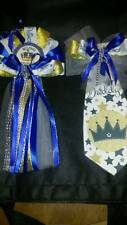 Mommy Baby shower corsage & Prince Tie for Daddy To Be welcome baby