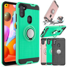For Samsung Galaxy A11 A21 A51 A71 A20S Hybrid Case Rotating Metal Ring Cover