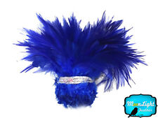 1 Yard - ROYAL BLUE Strung Chinese Rooster Saddle Wholesale Feathers (bulk)