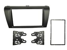 Double 2 Din Fascia for Mazda 3 Radio Stereo Panel Dash Mount Trim Kit Frame