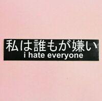 I Hate Everyone Sticker Japanese PVC Vinyl car laptop Goth Emo punk biker metal
