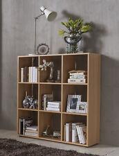 Wilmes: Raumteiler mit 9 Fächer - Bücherregal Standregal Wohnzimmerregal - Buche