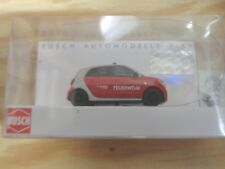 H0 1:87 Busch 49560 Smart Forfour 2014 Vigili Del Fuoco. Modello Pronto.conf.