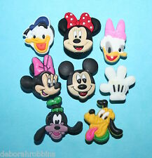 Mickey Mouse Cake Decorations 8 Cupcake Toppers Minnie Party Favours NEW