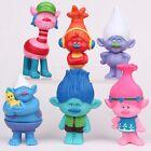 6 x Trolls Figures Poppy Guy Diamond Branch DJ Suki Toy Cake Topper Figurine AU!