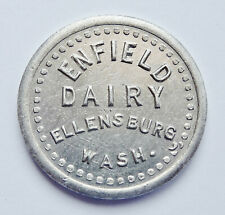 VINTAGE ENFIELD DAIRY - ELLENSBURG, WASH - GOOD FOR 1 PINT OF MILK TOKEN # 24030