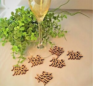 Mr and Mrs Wooden Table Confetti Wedding Rustic Vintage Wedding Wood Table Decor