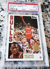 MICHAEL JORDAN 1992 Topps Archives RARE GOLD SP PSA 9 Rookie Card RC 1984 Bulls