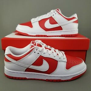 Nike Dunk Low Retro Championship Red Shoes Mens Size 8.5 Sneakers DD1391-600