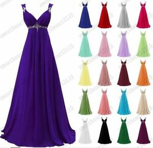 Formal Chiffon Evening Ball Gown Party Prom Bridesmaid Dresses Custom Size 6-26