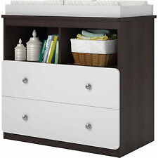 Baby Changing Table Wood Infant Dresser Furniture Nursery Drawer Storage