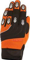 Weise Dakar Orange Black Leather Mesh Lycra MX Motocross Motorcycle Gloves