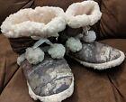 Mossy Oak SHERPA House Shoe Booties  Break-Up Country Camo MED 7-8 NWT