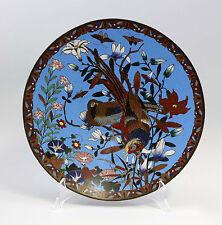 99839071 Large Ostentatious Cloisonné Plate Pheasants D 30,5 cm