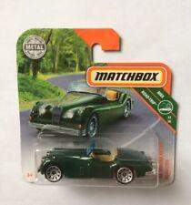 Matchbox (UK Card)  - #3 '56 Jaguar XK140 Roadster - Metallic Dark Grey