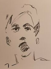 JOSE TRUJILLO Original Charcoal FAUVISM Paper Sketch Drawing 9X12 COLLECTIBLE 01