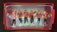 Red Color CONSTRUCTION FIGURES 6PC SET #1 1/50 BY FIRST GEAR 90-0480 Workers Toy