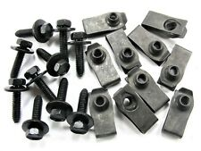 Body Bolts & U-nut Clips- M6-1.0 x 25mm Long- 10mm Hex- 20 pcs (10ea)- LD#143