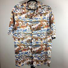 Reyn Spooner Men's San Francisco Shirt XL Short Sleeve Hawaii Collection