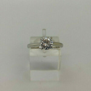 18ct White Gold Certificated 98pt Diamond Solitaire Ring.  Goldmine Jewellers.