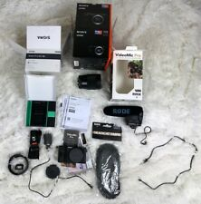 Sony A6500 w/ Sigma 16mm 1.4 Charger, 3 Batteries, Rode Microphone, Accessories