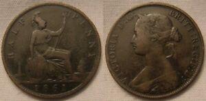 1861 Victoria Half Penny - Coin 2