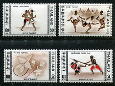 Thailand 460-63 MNH 5th Asian Games Thai boxing, Takraw - tree man ball, . x5857