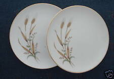 Nasco China Golden Harvest Wheat 2 bread & butter plate