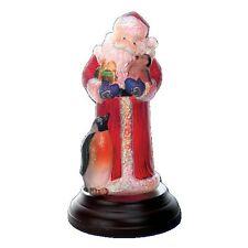 Merck Old World Christmas Santa Lamp Santa with Penguin Pals 2013