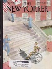 MARCH 26 2007 NEW YORKER vintage magazine - MILITARY MAN WHEELCHAIR, STAIRS