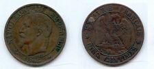 **gertbrolen 5 Centimes bronze napoléon III Tête laurée 1865 Paris