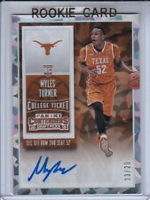 2015-16 CONTENDERS DRAFT MYLES TURNER CRACKED ICE 23/23 ROOKIE AUTO RC AUTOGRAPH
