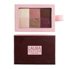 Laura Geller 6 Shade Baked Eyeshadow Palette - Mocha, .35oz/10g SWATCHED