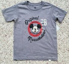 NWT Disney Store Boys Short Sleeve Mickey Mouse Original Mouseketeer Shirt S 5-6