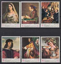 Yemen Kgr 1968 ** Mi.503/08 A UNESCO Florentinische Kunst Florentine Art Gemälde