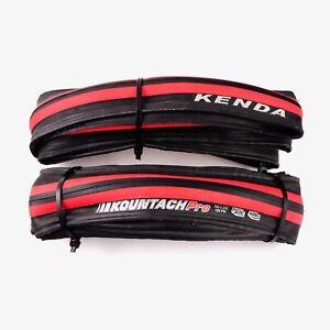 Kenda Kountach Pro 700 x 23c K1092 Road Bike Tire Clincher Black/Red 2 compound