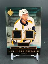 2013-14 UPPER DECK ULTIMATE COLLECTION SETH JONES DUAL JERSEY ROOKIE RELIC