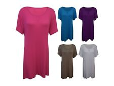New Women Ladies Keyhole Short Sleeve Tie Back Smock Tunic Top Plus Size 14-30