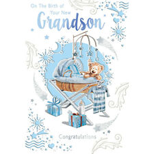 On The Birth of Your New Grandson Congratulations Celebrity Style Greeting Card