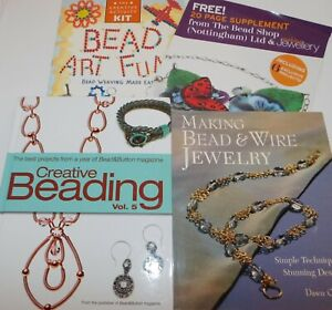 Lot of Books on BEADING Bead & Wire Jewelry Making Design Stitches BeadWeaving
