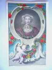 """JACOBUS HOUBRACKEN """" ANNE OF CLEEVES """" 1742. VERY RARE."""